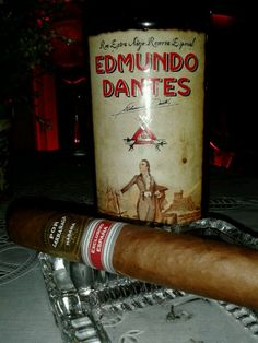 Rum Extra Aged Special Reserve Edmundo Dantes 15 year's and Por Larrañaga Exclusive Spain.