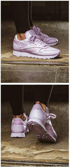 Reebok Classic Leather  Tonal Pastel   Purple Sneakers Shoes 7386db38e