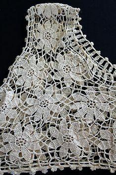 Crochet Tablecloth Pattern, Crochet Skirt Pattern, Crochet Motif, Crochet Designs, Knit Crochet, Crochet Patterns, Double Crochet, Crochet Tank Tops, Crochet Shirt