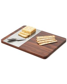 Woodard & Charles Cheese Board with Stainless Steel Insert