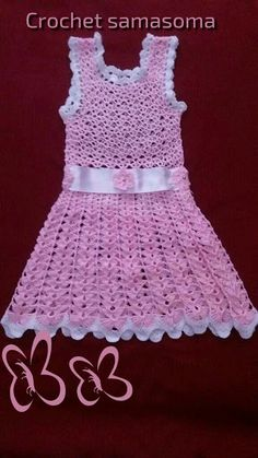 Crochet Dress Girl, Girls Dresses, Baby, Fashion, Crochet Dresses, Dresses Of Girls, Moda, Fashion Styles, Baby Humor
