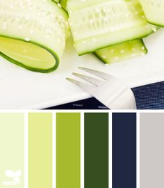 It is often difficult for the average person who does not have access to an interior designer to come up with colours that contrast and compliment and don't clash! Here is a lovely board of cucumber tones.