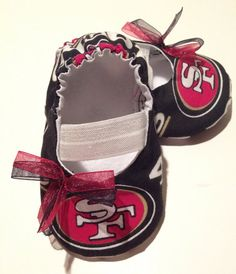 San Fransisco 49ers  Baby Maryjane Booties by saluna on Etsy, $15.00