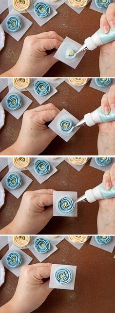How to make Buttercream Ribbon Roses with Video