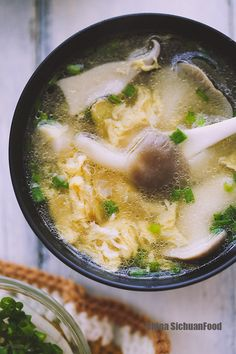 Egg Flower Soup with Oyster Mushroom – China Sichuan Food @elaineseafish