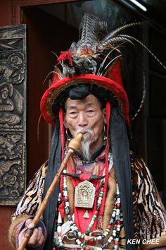 Naxi Shaman, (Dongba) China