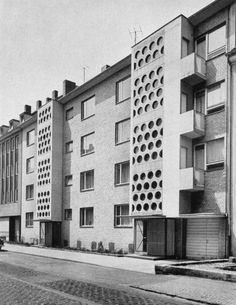"""Housing Development of """"Colonia Versicherung"""" (mid-1950s) in Cologne, Germany, by Werner Gaebel"""