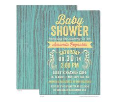 Rustic Beach Cottage Nautical Baby Shower Invitation - DIY Printable or Printed Invitation Options