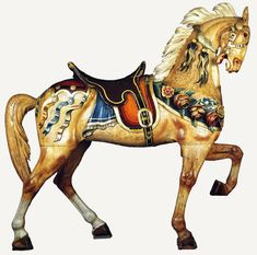 carousel lead horses | Stein and Goldstein lead horse, c. 1912.
