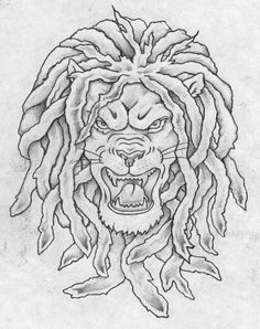 dreadlion by on DeviantArt Tribal Lion Tattoo, Body Tattoos, Adult Coloring Pages, Lion Sculpture, Statue, Drawings, Embroidery Stitches, Lion, Adult Colouring In