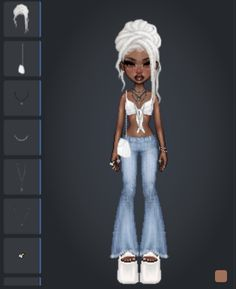 Indie Outfits, Retro Outfits, Cute Outfits, Fashion Outfits, Bratz Girls, Drawing Anime Clothes, Virtual Fashion, Fashion Design Drawings, Weird Fashion