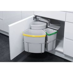 Lovin' this Recycling Station. Vauth Sagel by Fulterer Eco Center Ultimate Recycling Station Kitchen Organization, Kitchen Storage, Kitchen Decor, Kitchen Design, Kitchen Bins, Kitchen Waste, Kitchen Layout, Kitchen Ideas, Recycling Station