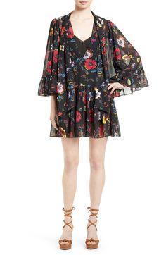Main Image - McQ Alexander McQueen Floral Print Shift Dress