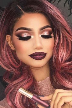 Look at our collection of new makeup ideas and most amazing makeup looks for win. night make up Look at our collection of new makeup ideas and most amazing makeup looks for win Cute Makeup, Glam Makeup, Gorgeous Makeup, Makeup Cosmetics, Makeup Looks, Hair Makeup, Amazing Makeup, Makeup Geek, Makeup Pics