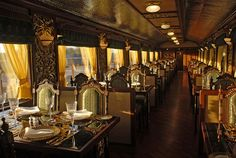 Now THATS what I call a DINING CAR ! ..... Maharajas Luxury Indian Trains