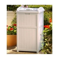 Trash Can Hideaway Garbage Bin Cover Taupe Outdoor Decorative Hidden  Recycling | Check It Out... Great Deal!.. | Pinterest | Yards, Trash  Containers And ...