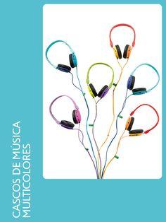 Ideas para regalar - Cascos de música multicolores
