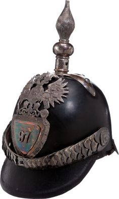 Militaria:Helmets, Imperial Russian 97th Infantry Regiment Spiked Helmet....