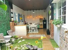 Terrific Photos semi outdoor kitchen Style Outdoor kitchen design and style is money-making in your house design and style industry. Kitchen Design Open, Outdoor Kitchen Design, Kitchen Designs, Kitchen Small, Outdoor Kitchens, Minimalist Garden, Minimalist Home, Minimalist Wardrobe, Vintage Interior Design