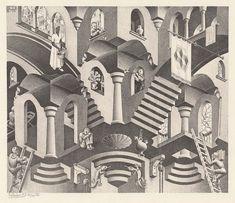 """Immerse Yourself Between Two Worlds: """"Escher x nendo"""" in Melbourne's NGV Escher Kunst, Mc Escher Art, Op Art, Delft, Book Of Hours, Arte Horror, Illusion Art, Dutch Artists, Cultural"""