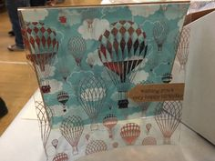 A personal favourite from my Etsy shop https://www.etsy.com/uk/listing/259287341/hot-air-balloons-and-clouds-handmade