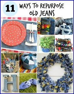 Think twice about ditching those old jeans! Here are 11 beautiful and practical ways to repurpose old jeans. | A CultivatedNest.com