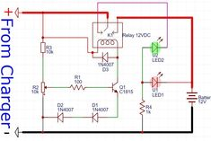 12V Lead Acid Battery Charger Circuit Diagram | 12v Battery Charger Circuit With Auto Cut Off Do Nghe Battery