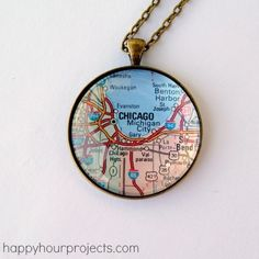DIY Easy Map Pendant Tutorial from Happy Hour Projects here.Adrianne used to sell these necklaces on her Etsy site, but since she doesn't anymore she posted this really easy tutorial on her blog. What's nice is you can use any paper souvenir/keepsake for this project.  For lots more DIY map projects go here:truebluemeandyou.tumblr.com/tagged/maps