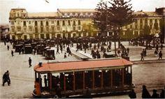 Tranvia año 1921 plaza de Bolivar Japan Spring, Tramway, Light Rail, Bus, Mid Century Style, Spring Time, The Beatles, Costa, Transportation