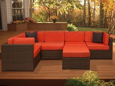 Acapulco International Bellagio Wicker 6-Piece Sectional Package by Acapulco International. $2799.99. Removable polyester cushion covers are simple to maintain and clean. Appealing outdoor cushions featured in multiple colors. Aluminum frames provide strength and durability. Modern and contemporary design without losing quality. Alluring all-weather PVC resin wicker in Dark Brown. A large expanse of comfort is spread across your back patio in this brilliant Bellagio Wicker S...