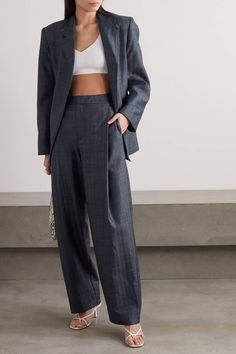 With summer still a few months away, it's officially still a bearable temperature to wear professional clothes in the office. Here are all the coolest trouser suits to buy right now. Ladies Trouser Suits, Trousers Women, Womens Trouser Suit, Suits For Ladies, Guys Suits, Women's Trousers, Harem Pants, Prom Outfits, Classy Outfits