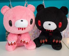 Kawaii Goth, Kawaii Plush, Cute Plush, Creepy Stuffed Animals, Creepy Cute, Cute Toys, Plush Dolls, Plushies, Ideias Fashion