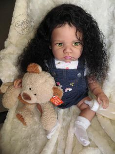 Biracial Reborn Baby Girl for sale - Happy by Regina Swialkowski Reborn Babies Black, Reborn Toddler Girl, Reborn Baby Boy Dolls, Black Baby Dolls, Newborn Baby Dolls, Baby Girl Dolls, Black Babies, Reborn Toddlers For Sale, Baby Dolls For Sale