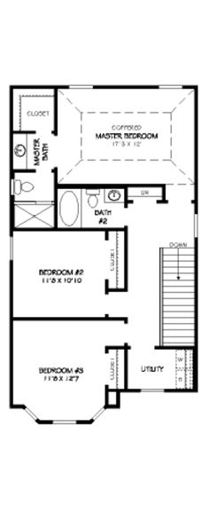 Traditional Style House Plan - 3 Beds 2.5 Baths 1857 Sq/Ft Plan #424-207 Floor Plan - Upper Floor Plan - Houseplans.com