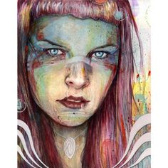 Hyperrealism Paintings by Michael Shapcott ❤ liked on Polyvore featuring home, home decor, wall art, owl home decor, owl wall art, owl illustration, girl illustration and girls wall art
