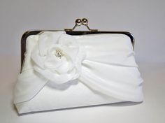Bridal clutch EllenVintage Silk Clutch In Ivory by ellenVintage, $75.00