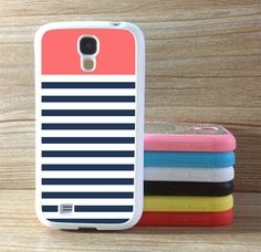 Samsung,Galaxy S4 Case Galaxy S3 Case stripes Covering skin Samsung Galaxy S3 s4 Gear Phones Case Personalized Cover  Blue  white stripes