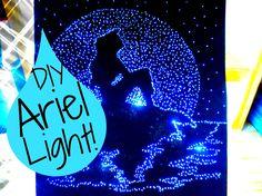 DIY The Little Mermaid Light Up Pinhole Art (Room Decor) I WishinOnKristyn