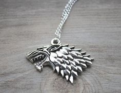 Game of Thrones Stark Wolf Necklace #gameofthrones #necklace #stark #got #pendant