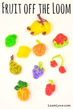 How to Make Fruit Off the Loom - Rainbow Loom