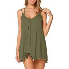 Usstore Women 2PCS Maxi Dress Sets Plus Size Summer Stylish Vintage Print Patchwork O-Neck Cozy Tank Dress Solid Loose Tops