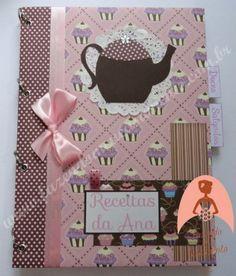 Fichário para receitas personalizado - Caderno de receitas