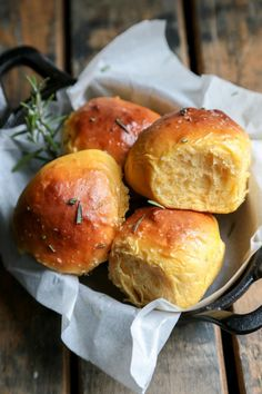 "Sweet Potato Rolls by Country Cleaver. ""These rosemary sea salt sweet potato rolls are quite possibly the easiest and fluffiest rolls ever. They will disappear from your table in a flash! Sweet Potato Rolls, Sweet Potato Recipes, Potato Rolls Recipe, Sweet Potato Side Dish, Sweet Potato Dessert, Sweet Potato Bread, Sweet Potato Biscuits, Sweet Potato Muffins, Potato Pie"