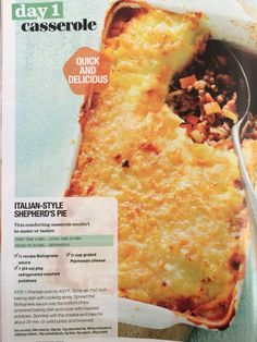 Italian style shepherds pie by Giant Food stores
