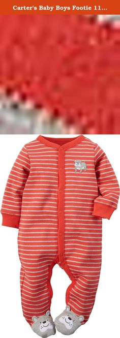 Carters Baby Boys Footie 115g070, Dog, 9 Months. Carters is the leading brand of childrens clothing, gifts and accessories in America, selling more than 10 products for every child born in the u.S. Their designs are based on a heritage of quality and innovation that has earned them the trust of generations of families.