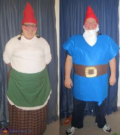 Garden Gnomes (AKA Gnomeo and Juliet) - Halloween Costume Contest via @costumeworks