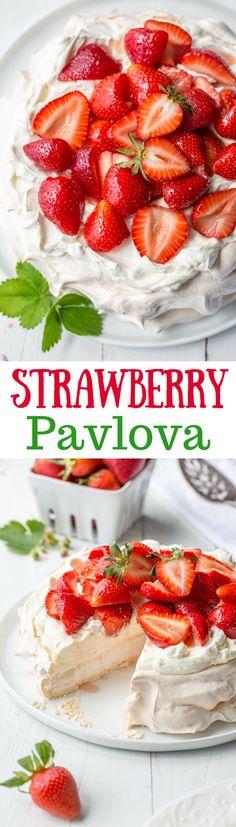 Strawberry & Mascarpone Pavlova Recipe