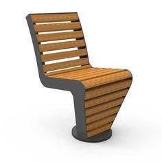 Deze stoel is voorzien van een ronde draaischijf op maaiveld. De stoel kan zowel links- als rechtsom 360 graden draaien. Outdoor Chairs, Outdoor Furniture, Outdoor Decor, Street Furniture, Floor Chair, Flooring, Home Decor, Chairs, Woodworking
