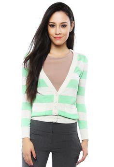 stripe knit cardigans