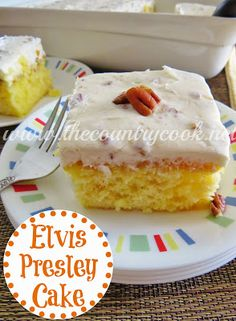 Elvis Presley Cake {it's a Hunka Hunka good cake!! Wait til you try the frosting!}